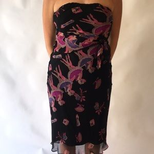 Vintage Betsey Johnson Ballet Dancer Print Dress